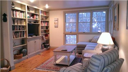 Harwich Cape Cod vacation rental - Newly Furnished Family Room, TV and Bookcase