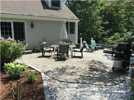 Harwich Cape Cod vacation rental - Looking back at the Patio fro sea shsell walkway