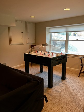 Harwich Cape Cod vacation rental - Finished basement w/ice hockey, qn sleep sofa, cable TV & 1/2 bt