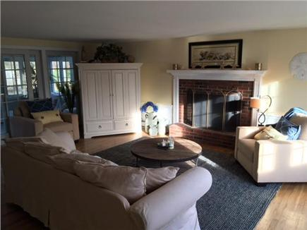 West Dennis Cape Cod vacation rental - Living Room - All new Pottery Barn furniture in 2016