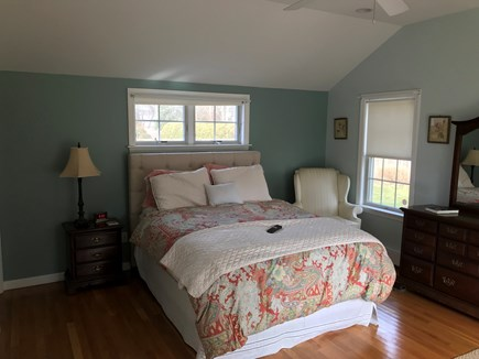 West Dennis Cape Cod vacation rental - Master Bedroom with sliding doors to the back patio