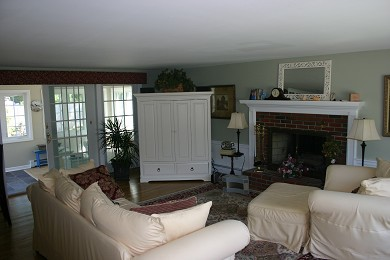 West Dennis Cape Cod vacation rental - Living Room--Beautifully furnished open floor plan with fireplace