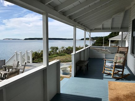 Chequessett Bluff, Wellfleet Cape Cod vacation rental - View The Orchestra Seat Porch!