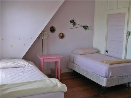 Provincetown Cape Cod vacation rental - Garden/street facing bedroom with twin beds