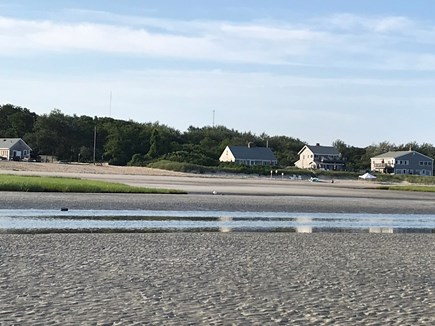 Orleans Cape Cod vacation rental - View of condo from on Skaket Beach during low tide