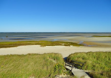 Orleans Cape Cod vacation rental - View of the beach from our deck