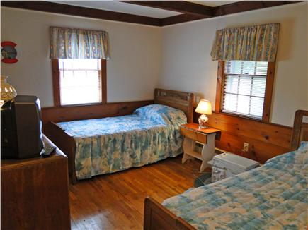 Dennis Cape Cod vacation rental - Second twin bedroom with TV
