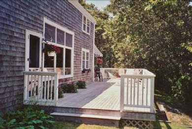 East Sandwich Cape Cod vacation rental - Back deck 65' x 12'
