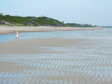 East Sandwich Cape Cod vacation rental - Low tide at Sandy Neck Beach