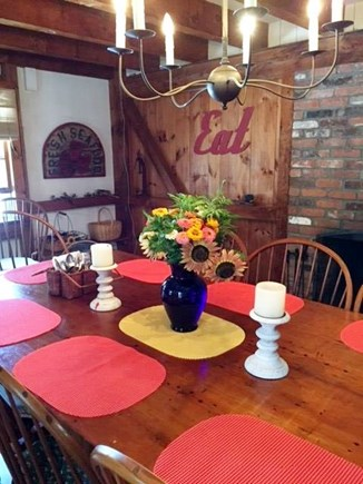 East Sandwich Cape Cod vacation rental - Large Dining Table - comfortably seats 10 adults