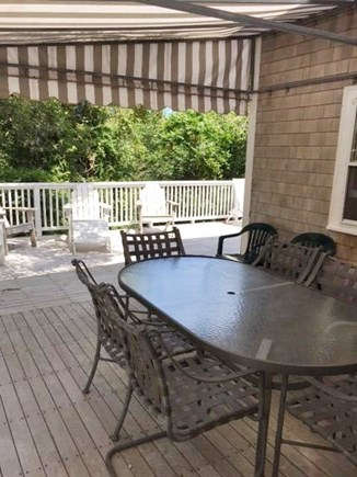 East Sandwich Cape Cod vacation rental - Outdoor eating area located on wrap around deck with gas grill