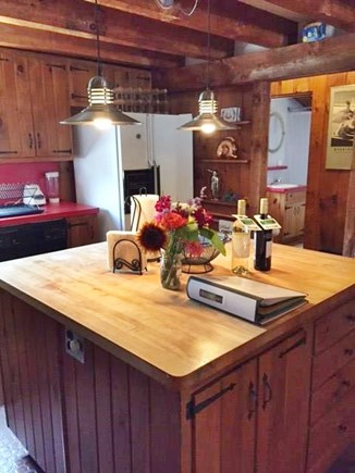 East Sandwich Cape Cod vacation rental - Spacious Kitchen centered around butcher block island