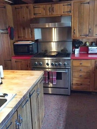 East Sandwich Cape Cod vacation rental - Kitchen with 6 burner stainless steel stove/oven
