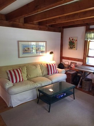 East Sandwich Cape Cod vacation rental - Downstairs Den featuring TV with Directv service (not shown)