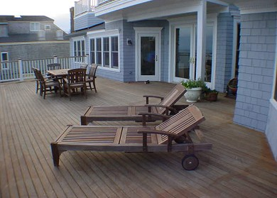 Provincetown Cape Cod vacation rental - Enormous waterside deck is not shared with anyone
