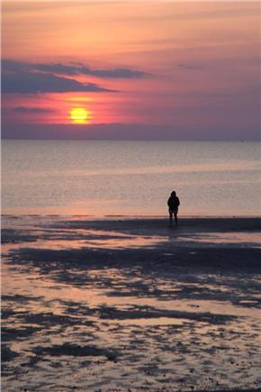 Eastham Cape Cod vacation rental - Sunset at First Encounter Beach (bayside)