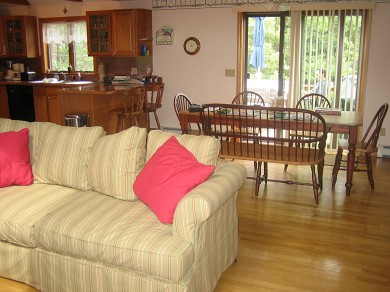 Eastham Cape Cod vacation rental - Dining area opens out onto the deck