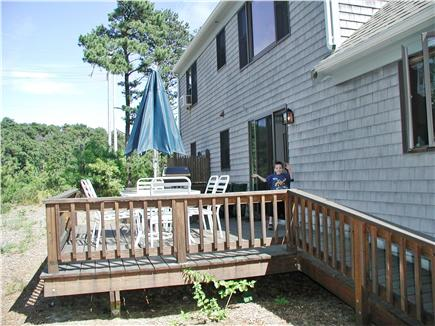 Eastham Cape Cod vacation rental - Back deck with grill and furniture