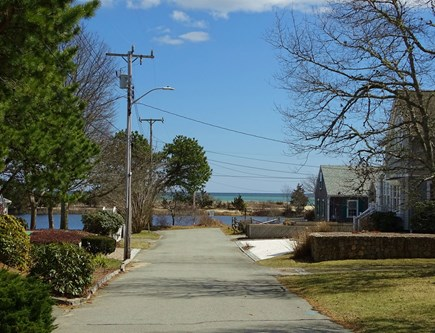 Mashpee, Popponesset Beach Cape Cod vacation rental - See the water from the front yard, walk 2 minutes to beach
