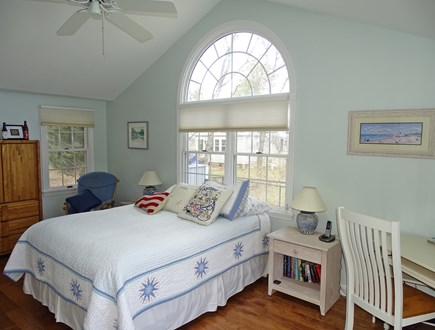 Mashpee, Popponesset Beach Cape Cod vacation rental - Queen bed master with TV and slider to deck