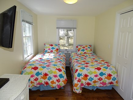 Mashpee, Popponesset Beach Cape Cod vacation rental - Large twin bedroom with flat screen TV