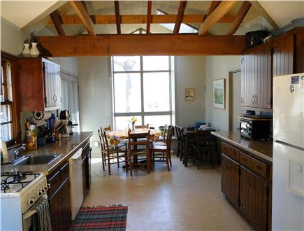 Wellfleet Cape Cod vacation rental - Large vaulted kitchen area with dining space