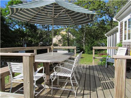 North Eastham Cape Cod vacation rental - Sunny deck - Table seats 12