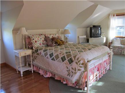 North Eastham Cape Cod vacation rental - Large upstairs bedroom with queen and 2 twin beds