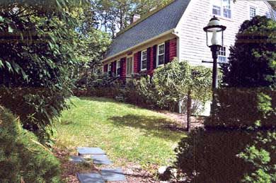 Brewster Cape Cod vacation rental - Front entrance as viewed from the driveway