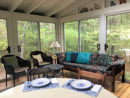 Brewster Cape Cod vacation rental - Porch looking out on Nickerson State Park