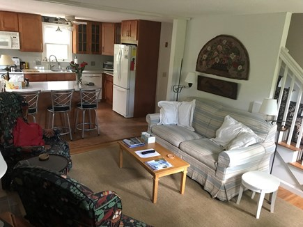 Brewster Cape Cod vacation rental - Family room and newly remodeled kitchen