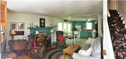 Brewster Cape Cod vacation rental - Family room & eat-in kitchen with all appliances