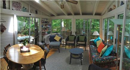 Brewster Cape Cod vacation rental - 14 X 14' Sun porch looks out on Nickerson Park