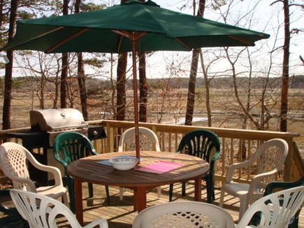 Wellfleet Cape Cod vacation rental - Deck off of Main bedroom overlooking tidal marsh