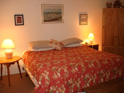 Wellfleet Cape Cod vacation rental - Main bedroom 1st floor.  Access deck via sliders.