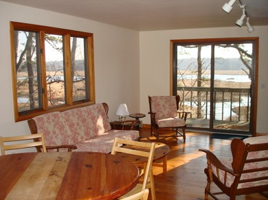 Wellfleet Cape Cod vacation rental - Upstairs den leads to a small deck.