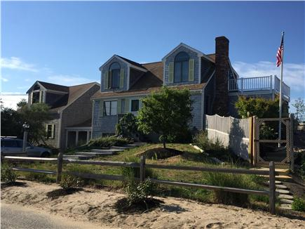 North Eastham Cape Cod vacation rental - Front of House - New steps to pool area for beach on right