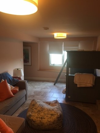 North Eastham Cape Cod vacation rental - Extra Bunk Beds in room with TV and Bathroom