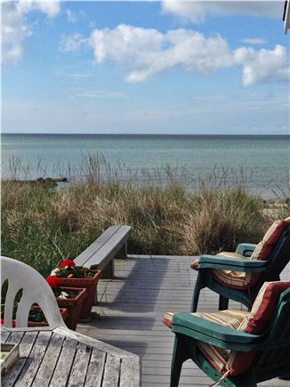 West Dennis,on the beach Cape Cod vacation rental - View from the East deck