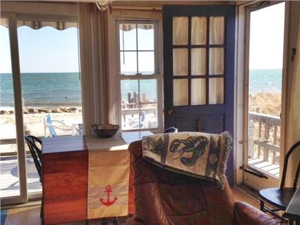 West Dennis,on the beach Cape Cod vacation rental - Dinning table opens to seat 8