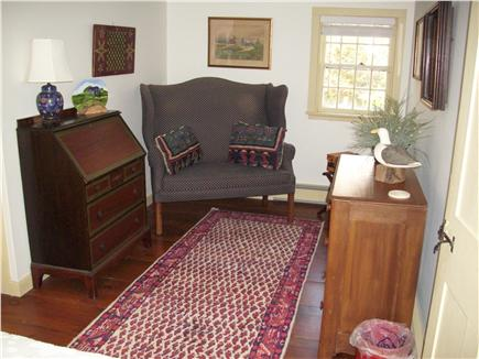 Yarmouthport historic 6A Cape Cod vacation rental - One of the upstairs bedroom's sitting area