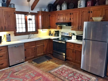 Yarmouthport historic 6A Cape Cod vacation rental - Kitchen with updated appliances