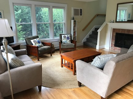 Brewster Cape Cod vacation rental - Living Room - gas fireplaceOpen Floor Plan - 1st floor