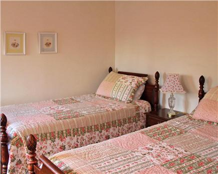 Brewster Cape Cod vacation rental - First floor twin bedroom with view of pool