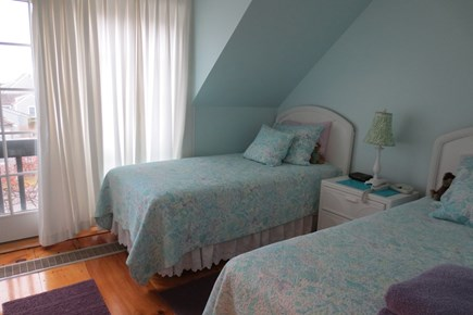 New Seabury New Seabury vacation rental - Second bedroom upstairs with twin beds & Juliette balcony