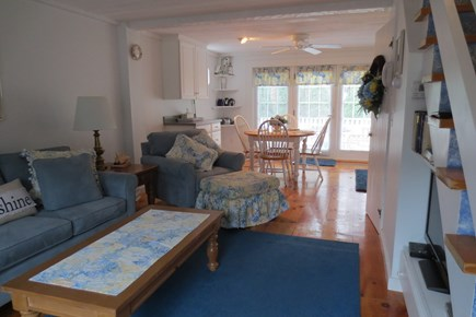 New Seabury New Seabury vacation rental - Open living area with full-size pull-out couch