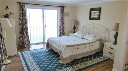 Orleans Cape Cod vacation rental - Other master bedroom w/sliders to deck and water views