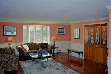 Orleans Cape Cod vacation rental - Living room with wet bar