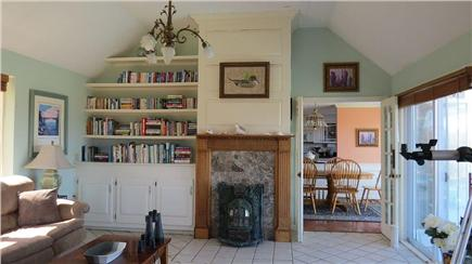 Orleans Cape Cod vacation rental - Family room with sleep sofa, doors can be closed for privacy