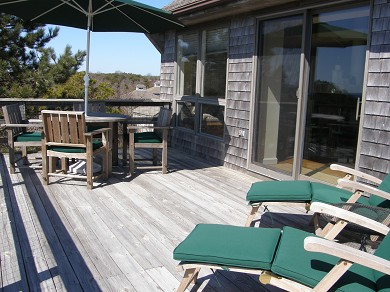 Truro Cape Cod vacation rental - Upper deck